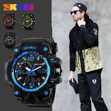 Army Military Waterproof Sport Men Watches LED Quartz Analog Digital Wrist Watch
