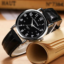 Luxury Mens Wrist Watch Quartz Leather Xmas Gift For Him Fathers Day Son Husband