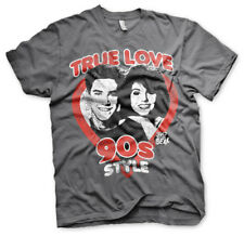 Officially Licensed Saved By The Bell- True Love 90´s Style Mens T-Shirt (S-XXL)