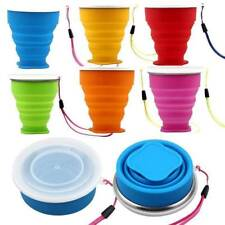 Portable Silicone Telescopic Drinking Collapsible Folding Cup Travel Camping-HOT