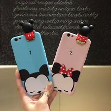 caso de la cubierta silicone minnie michey dibujos animados para Apple IPhone 6