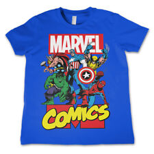 Official Licensed Marvel Comics Heroes Kid's Unisex T-Shirt Ages 3-12 Years