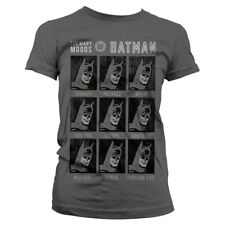 Officially Licensed The Many Moods Of Batman Women's T-Shirt S-XXL Sizes