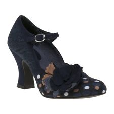 New Womens Ruby Shoo Blue Multi Dee Textile Shoes Floral Buckle