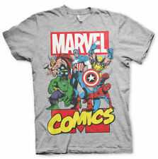 Official Licensed Marvel Comics Heroes Men's T-Shirt S-XXL Sizes (Grey)