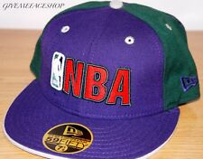 New Era 59fifty NBA Lila GORRA VISERA PLANA, hip hop Ajustada, 5950 borde