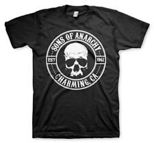 Official Licensed Sons Of Anarchy Seal Charming Men's T-Shirt S-XXL Sizes, Black