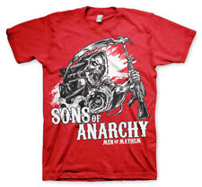 Official Licensed Sons Of Anarchy - SOA AK Reaper Men's T-Shirt S-XXL (red)