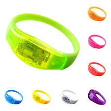 Voice Activated Sound Control Led Intermittent Bracelet Band Night Club Mai Z2L6
