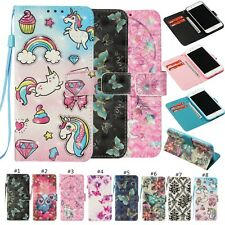 3D Pu Leather Wallet Card Case Flip Cover Stand For iPhone Samsung Huawei Xiaomi