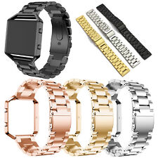 Stainless Steel Bracelet Watch Band Replacement Strap For Fitbit Blaze Tracker