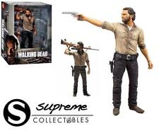 "The Walking Dead Rick Grimes Deluxe 10"" Figure & Rifle & Gun McFarlane Toys New"