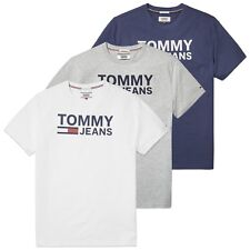 TOMMY HILFIGER T-SHIRT - JEANS classici Logo - Navy, Grigio, Bianco -