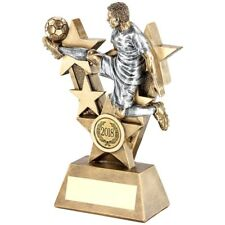 Kick-star GIOCATORE DI CALCIO TROFEO finitura rustica PREMIO - INCISIONE