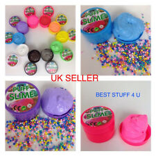 Fluffy Puff Slime Putty Decoration Foam 100g Can Kids Stress Relief UK Seller 5b