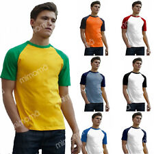 T-SHIRT UOMO  MANICHE CORTE BICOLORE BASEBALL FRUIT OF THE LOOM 610260