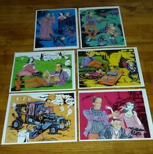 Set of 6 The Munsters Reproduction Prints Herman, Lily, Grampa, Eddie, Coach