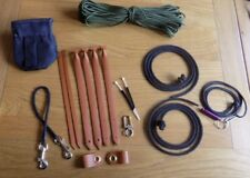 Falconry Huge Kit - Jesses Anklets Creance Swivel Files Leashes Clips + More!