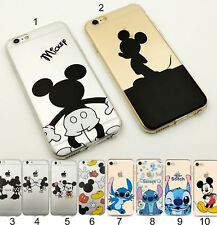 caso de la cubierta silicona minnie de la puntada mickey para Apple IPhone 5 6 7