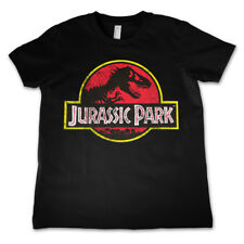 Official Licensed Jurassic Park Distressed Logo Kid's T-Shirt Ages 3-12 Years