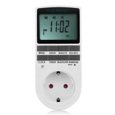 Digital LCD Plug-in Programmable 12/24 Hour Timer Switch Socket -10~ 40℃ 8 Key