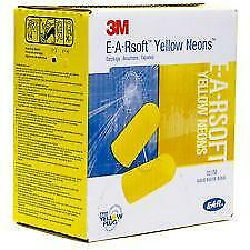 New Box - 3M Yellow Neons Ear Plugs