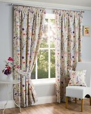 """Sundour Luxury Floral Hampshire Fully Lined 3"""" Pencil Pleat Curtains Multi"""