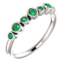 Chatham® Created Emerald Bezel Set Ring In Sterling Silver