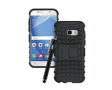 Samsung Galaxy A3 (2017) Heavy Duty Tough ShockProof Hard Back Stand Case Cover
