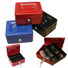 Security Safe Petty  Cash Box Money Bank Deposit Steel Tin  With 2 Keys( 8inch)