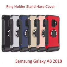 Luxury Shockproof Ring Holder Stand Hard Cover Case For Samsung Galaxy S8 S9 A8