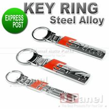 CHROME STEEL ALLOY KEY RING FOB KEYCHAIN for ALL S LINE RS6 CAR INTERIOR RIM