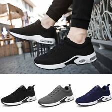 Mens Casual Walking Running Sneakers Breathable Mesh Shoes Fashion Lace Up Flats