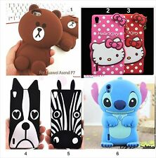 CUBIERTA DE LA CAJA CASE silicone oso dog kitty starbucks 3D Para HUAWEI ASCEND