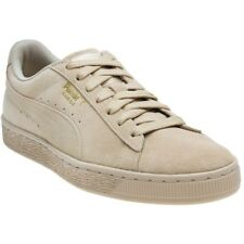 New Mens Puma Natural Suede Classic Tonal Trainers Retro Lace Up
