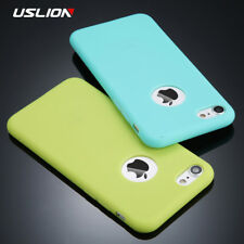 Phone Case For iPhone Plain Soft Silicon TPU FOr Apple Back Cover Pouch Candy