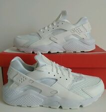 Nike Air Huarache White/Platinum/White Trainers Sizes 9 & 10 UK 318429 111