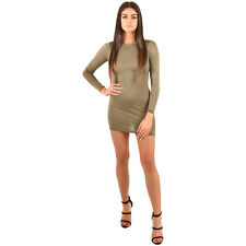 Boohoo Khaki Petite Skater Dress Mini.