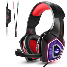 Professional PC Gaming Headset Headphone Mic 3.5mm Bass Surround for PS4 New