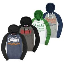 Superdry Hoodies - Superdry Sweat Shirt Store Raglan Hoodie - Green, Blue, Grey