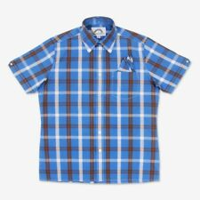 Brutus Greatfit Shirt Palace Blue/Cocoa Brown Check,Mod,Ska, Soul, Skinhead,60s