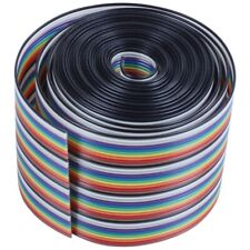 10ft 40 Way 40-Pin Rainbow Color IDC Flat Ribbon Cable 1.27mm Pitch C6F3