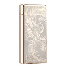 Windproof Flameless USB Rechargeable Dual Arc Cigarette Lighter Electric Lighter