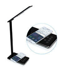 LED Desk Lamp Folding Light QI Wireless Charging Charger For iPhone 6 LG Sumsung