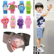 Cute Adorable Cartoons Children Slap Snap On Silicone Quartz Wrist Watch 8108