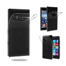 Housse Silicone 100% Transparent Gel pour Nokia Lumia 930 830 640, Ultra Mince