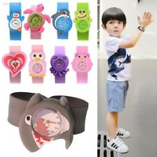 Cute Adorable Cartoons Children Slap Snap On Silicone Quartz Wrist Watch 0A31