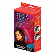 Secret Colour Colourful Easy to Insert Hair Extensions Red,Black