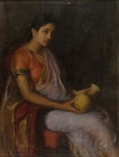 Girl With Vase Antonio Xavier Trindade late-19th Century-early-20th Century-Art