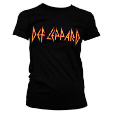 Official Licensed Def Leppard Distressed Logo Band Ladies Fitted T-Shirt S-XXL